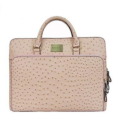 Women S Fashion Classic Ostrich Grain Laptop Bag Briefcase Totes