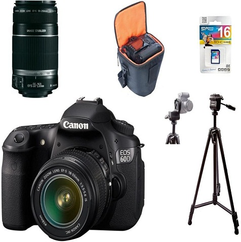 Canon EOS 60D With Free Case, Tripod, & Memory Card