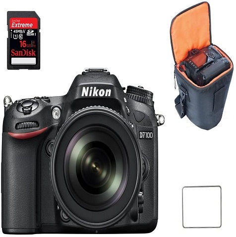 Nikon D7100 Camera With Case and Screen Cover