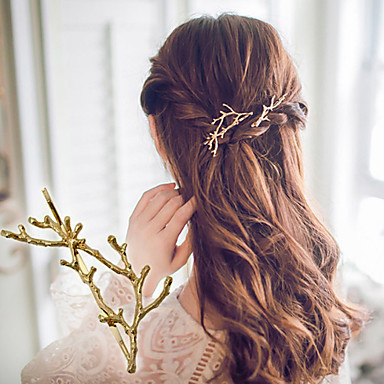 1 Pcs Antlers Branch Alloy Edge Clip Hairpin Princess Clip Accessories Fashion And Personality- Hair Accessories