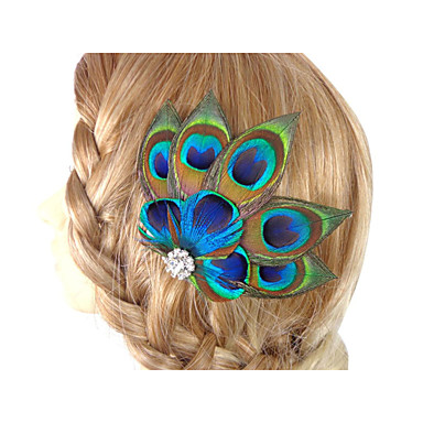 2016 New Fascinator Hair Accessories Clip in Feather Accessories Hand Made- Hair Accessories