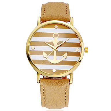 5 Colors New Arrival Fashion Leather Strap Anchor GENEVA Watches Women Dress Watches Cool Watches Unique Watches- Women's Watches