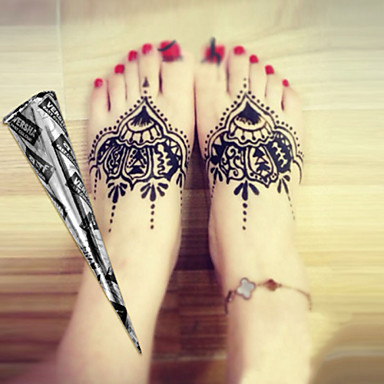 e2d841282 Halloween 12 * Black* Herbal Henna Cones Temporary Tattoo kit Body Art  Mehandi Ink Hina