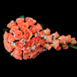 Wedding Flowers Cascade Lilies Bouquets Wedding Party/ Evening Satin Pink White Orange- Wedding Flowers