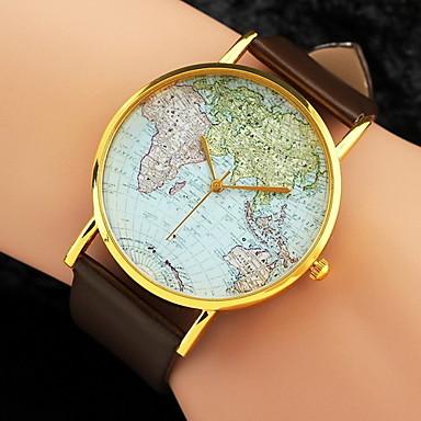 Womens wrist watch world map pattern eiibso womens watch world map pattern pu band strap watch cool watches unique watches fashion wrist watch gumiabroncs Gallery