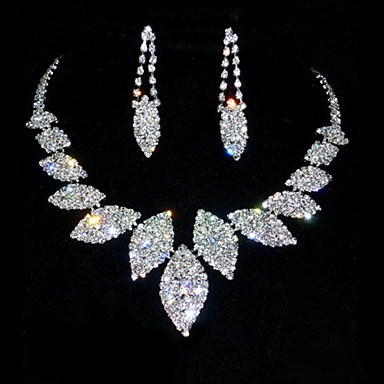 Jewelry Set Women's Anniversary / Birthday Jewelry Sets Alloy / Rhinestone Rhinestone Necklaces / Earrings As the Picture- Jewelry Sets