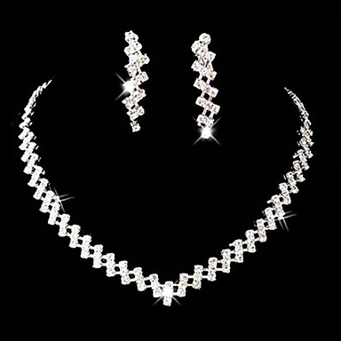 Jewelry Set Women's Anniversary / Wedding / Engagement / Birthday / Gift / Party / Special Occasion Jewelry Sets Alloy Rhinestone Silver- Jewelry Sets