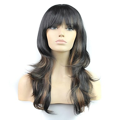24 Inch 100% High Temperature Fiber Synthetic Female Elegant Fashion Celebrity Long Wave Wig- Wigs & Hair Extensions