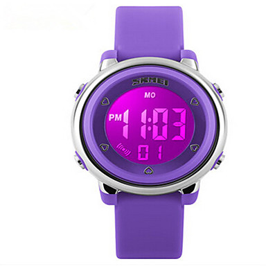 Skmei?®Fashion Children LED Digital Multifunction Wrist Watch 50m Waterproof Assorted Colors Cool Watches Unique Watches Strap Watch- Women's Watches