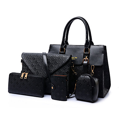 Women's Popular Limited The large capacity Crossbody Bag Tote Wallet- Bag Sets