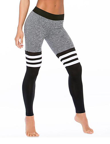 Casual/Daily Active Striped High Rise Elasticity Polyester Stretchy Fall / Winter-