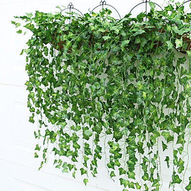 9 Bifurcate/Bouquet Boston Ivy Leaf Rattan(2 Bouquet)- Home Decor