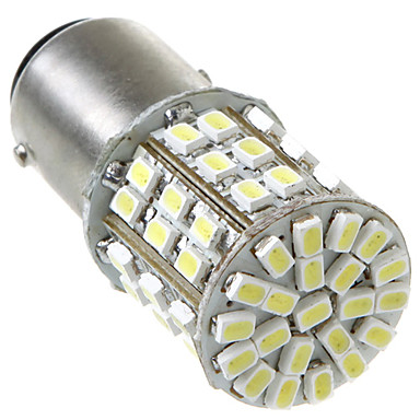 1157/BAY15D 2057 64 1206 SMD LED Car Tail Brake Stop Turn Light Bulb Lamp White- Car Lights