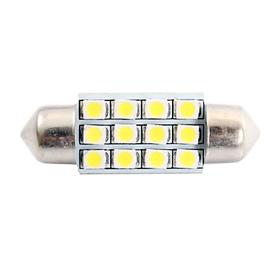 36mm 3W 150LM 6000K 12x3528 SMD White LED for Car Reading/License Plate/Door Lamp (DC12V