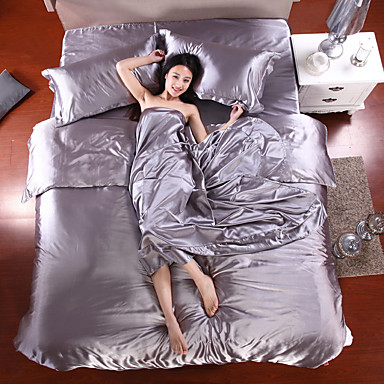 Bed Linen Satin Textile Silk Chinese Silk Bedding Set Red Wedding Sets Bedsheet Pillowcase- Home Textiles