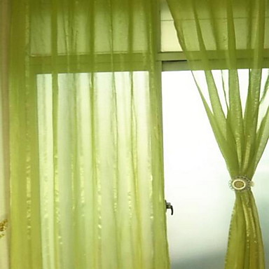 One Panel Curtain Modern Solid Bedroom Polyester Material Sheer Curtains Shades Home Decoration For Window 140*260- Home Textiles