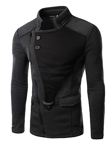 Men's Black/Red/Gray Jacket- Men's Jackets & Coats