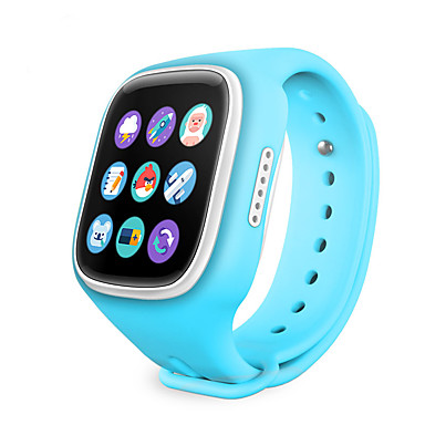 IPS WiFI GPS Location Smart Watch Children Wristwatch SOS Call Finder Locator Tracker Anti Lost Monitor Smartwatch Kids Changable Color Belt- Smartwatches