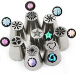 8 Pcs Lot Russian Tulips Cake Decoration Tools Set Stainless Steel Pipping Nozzles- Bakeware