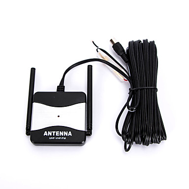 DC 12V Black Outdoor Booster FM Radio TV Antenna for Automobile Car- Antenna Toppers