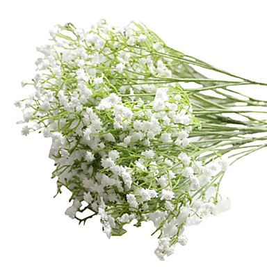 6pcs/Set 6 Branch PU Baby Breath Tabletop Flower Artificial Flowers 23 inch- Home Decor
