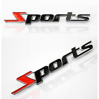 Car Stickers for Metal Letters Sports- Car Stickers