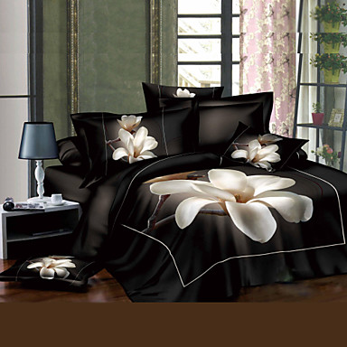 3D(random pattern) Cotton 4 Piece Duvet Cover Sets- Home Textiles
