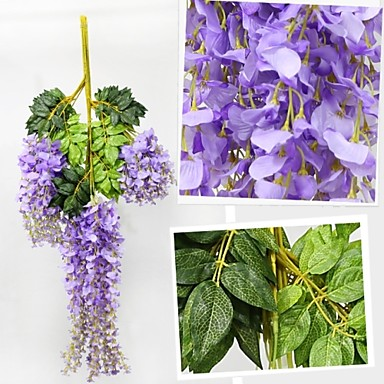 105CM Length Wisteria Flower Wedding Celebration Decorate(12 PCS)- Home Decor