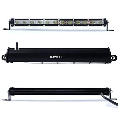 KAWELL 36W 13 Ultra-thin CREE DC 9-32V 6000K 2520LM 30 Degree LED for ATV/Jeep/boat/suv/truck/car/atvs light Off Road Waterproof Led Work Spot Light- Work Lighting