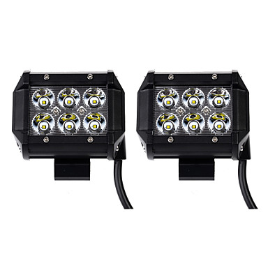 KAWELL?® 2-Pack 18w 1260 Lm Cree Spot Led Work Light for ATV SUV Jeep Mine Boat Lamp- Work Lighting