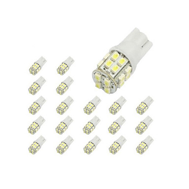10 x T10 20-SMD 1210 White LED Car Lights Bulb 194 168 2825 W5W- Car Lights