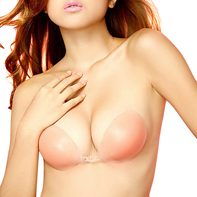 Women Transparent Sexy Silicone Bra Strapless Classical Invisible Bra Adhesive Bra Breast Push-Up Skin NY093- Shapewear
