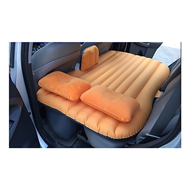 LEBOSH™Mobile Bed Inflatable Bed in the Back Inflatable Mattress for Self-driving Tour Thickening of Oxford Cloth Orange- Seat Accessories