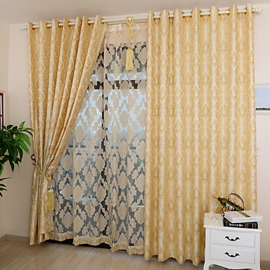 Two Panels Lovely Romantic Style Jacquard Curtains Living Room Bedroom Dining Room curtains- Home Textiles