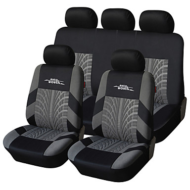 AUTOYOUTH Brand Embroidery Car Seat Cover Set Universal Fit Most Cars Covers with Tire Track Detail Styling Car Seat- Seat Accessories