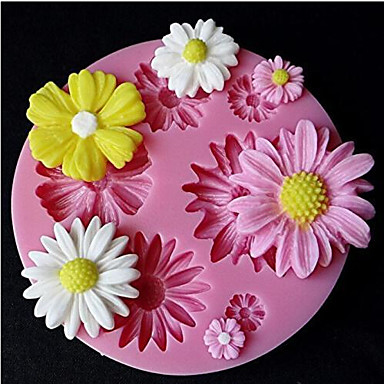 Cute Sunflower Design Silicone Candy Fondant Chocolate Sugar Mold and Cake Decorating Mould- Baking Molds