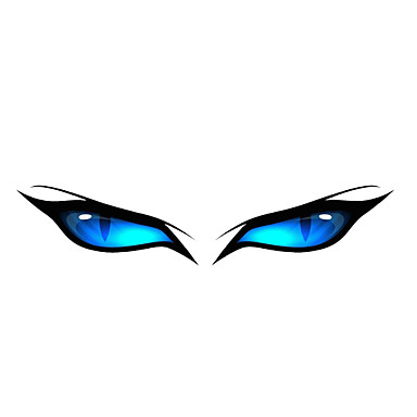 Blue Eye Pattern Decorative Car Sticker- Car Stickers