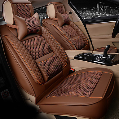 Seagull Pattern silkLeatherwearBusiness Car 7 Seater Van Seven Car seat Cushion Leather Four Seasons Cushion Seat Cover- Seat Accessories