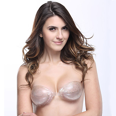 Newest Cup A/B/C Invisible Breathable Thicken Push Up Silicone Bra Adhesive Breast Petals- Shapewear