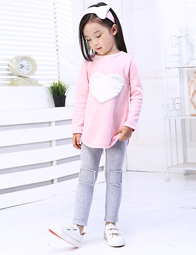 Girl's Summer/Spring/Fall Micro-elastic Medium Long Sleeve Clothing Sets (Cotton)- Girls' Clothing Sets