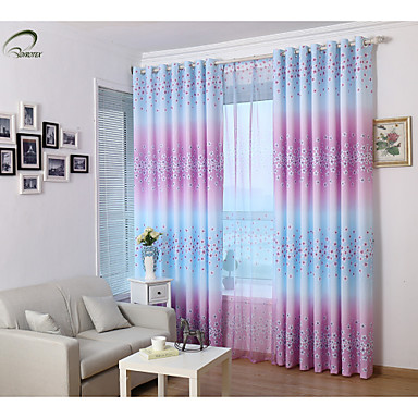 Country Curtains?® One Panel Purple Floral Print Curtain- Home Textiles
