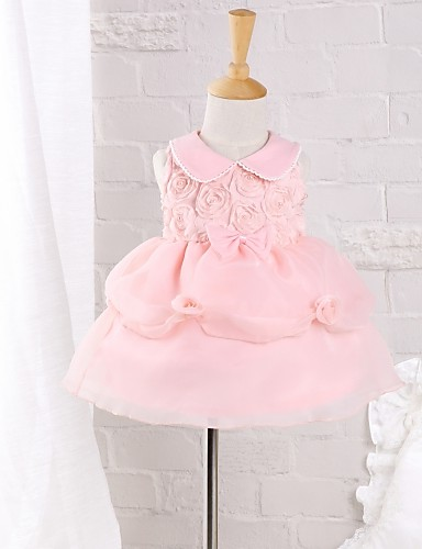 Baby Casual/Daily Solid Dress Cotton Nylon Summer Fluffy Dress- Babies' Dresses