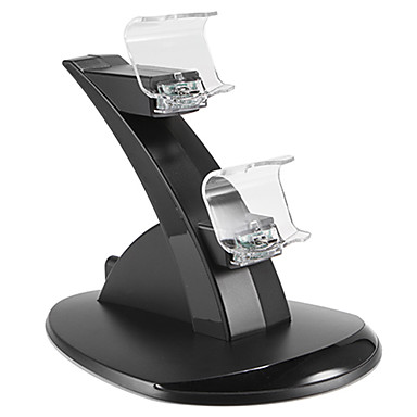 Dual USB With Blue LED Charging Dock Station Stand for PS4 Controller (Black)- PS4 Accessories