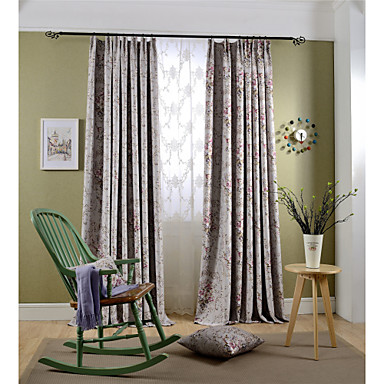 Country Curtains?® Blackout Printing Flower Three Color Curtains Drapes Two Panel- Home Textiles