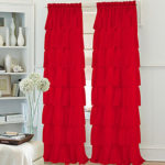 Solid Living Room Polyester Material Sheer Curtains Shades Home Decoration For Window- Home Textiles
