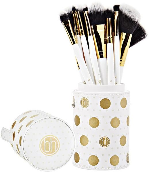 BH Cosmetics Dot Collection - 11 Piece Brush Set White