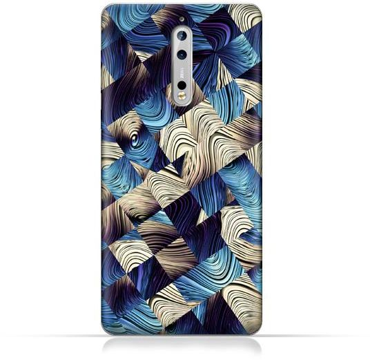Nokia 8 TPU Silicone Case With Digital Art abstract