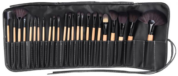 24Pcs Makeup Brushes Kit Professional Cosmetic Make Up Set Pouch Bag Case