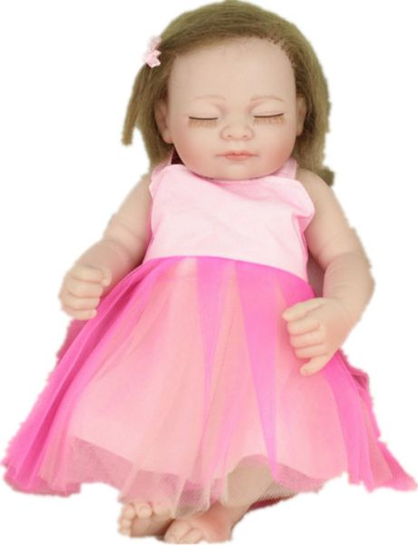 28cm Sleeping Silicone Reborn Baby Dolls Girl Toy