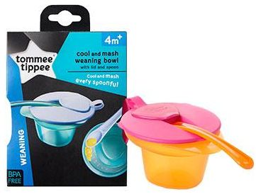 Tommee Tippee Cool and Mash Weaning Bowl Tableware Sets [TT446702] - Multicolor